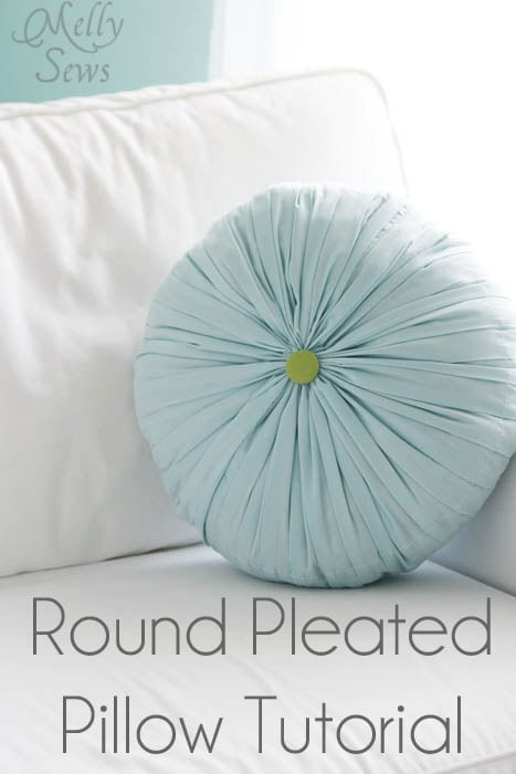 Round Pleated Pillow Free Sewing Tutorial