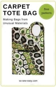 Carpet Tote Bag FREE Pattern