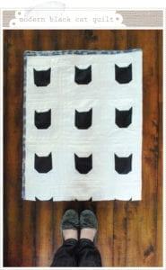 Modern Black Cat Quilt