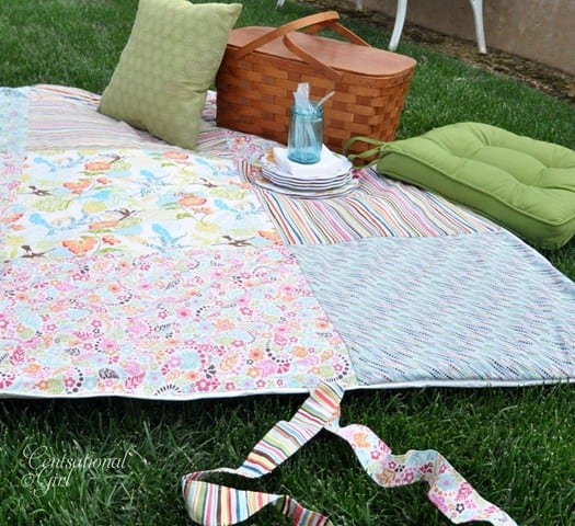 Picnic Blanket Free Sewing Tutorial