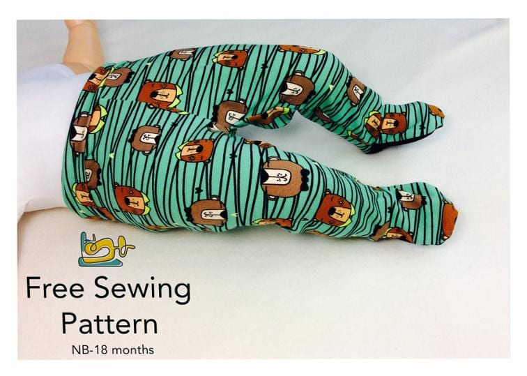 Footed Pants FREE Sewing Pattern
