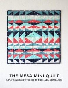 Mesa Mini Quilt Free Pattern