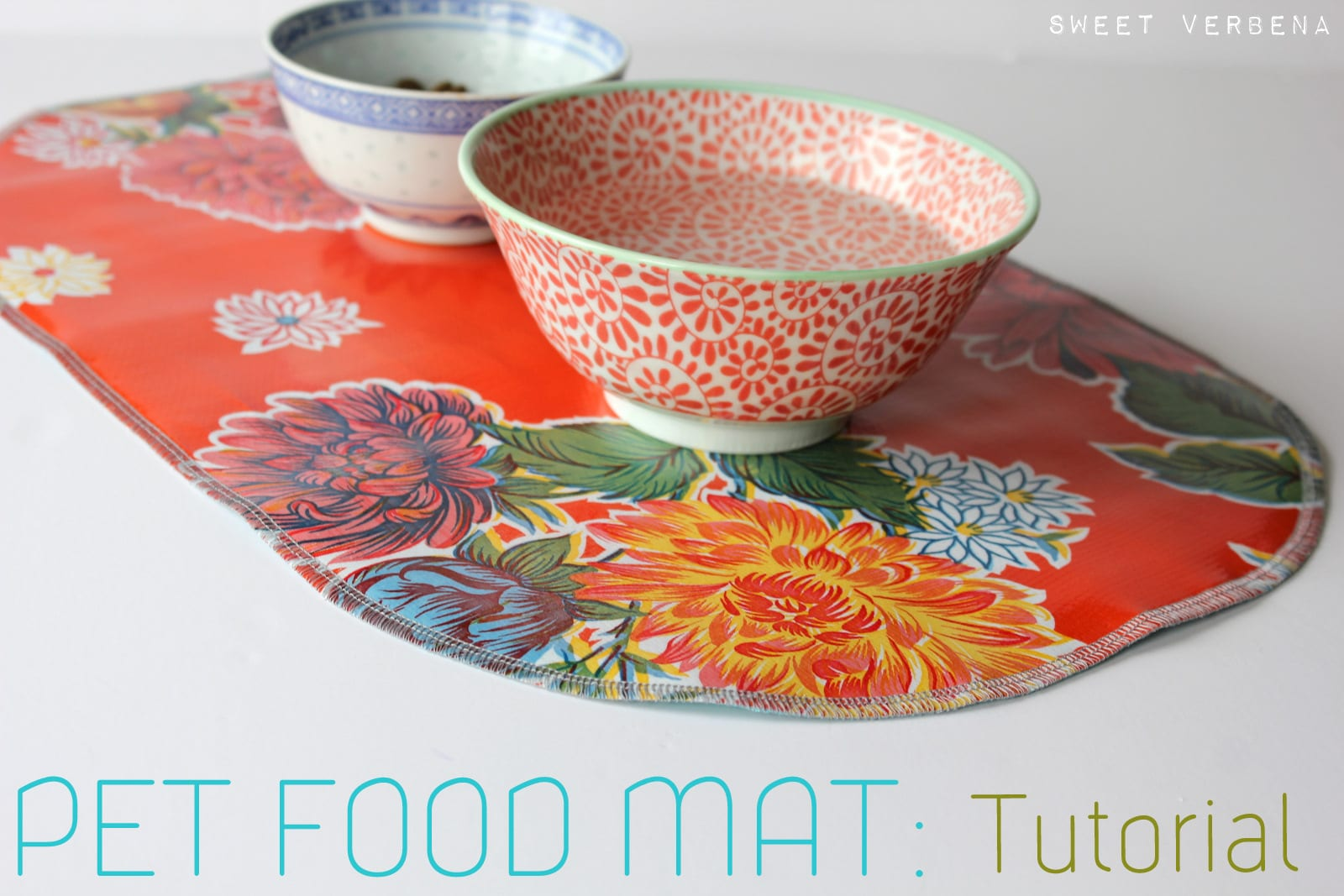 Pet Food Mat FREE Sewing Tutorial