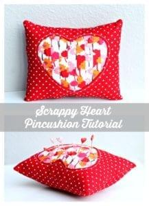 Valentine's Day Pincushion Free sewing pattern