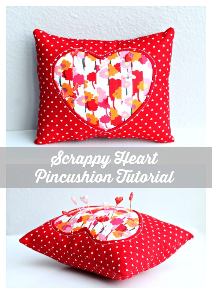 Valentine's Day Pincushion Free sewing pattern
