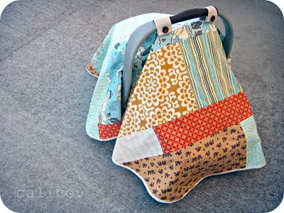 Carseat Baby Blanket Cover Tutorial