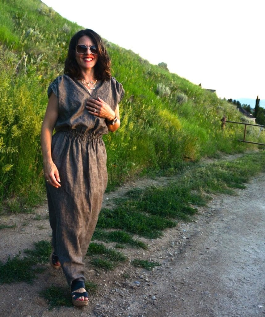 Ruched Linen Maxi Dress FREE Sewing Tutorial