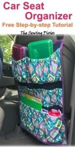 Car Seat Organizer Free Sewing Tutorial