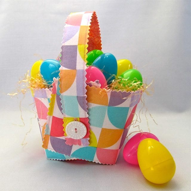 Collapsible Easter Basket FREE Sewing Tutorial