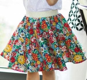 Girls Circle Skirt FREE Sewing Pattern