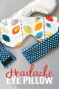 Headache Eye Pillow Free Sewing Pattern