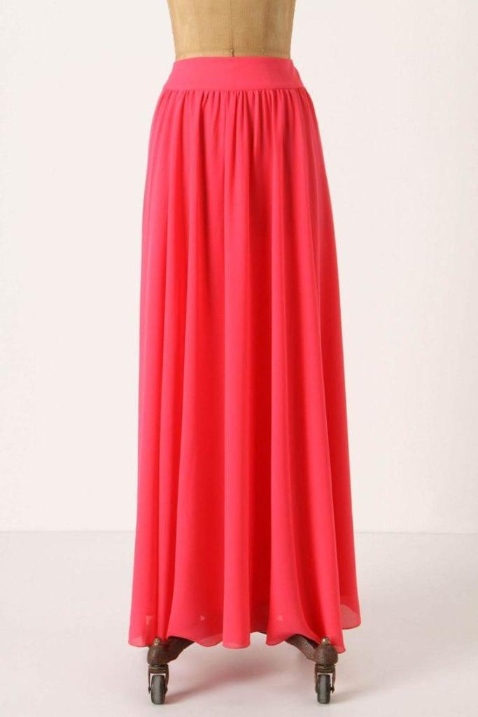 Silk Chiffon Maxi Skirt Free Tutorial