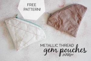 Gem Zipper Pouch FREE Pattern
