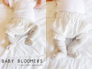 Baby bloomers free pattern