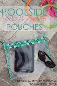 Splash-Proof Pouches free tutorial
