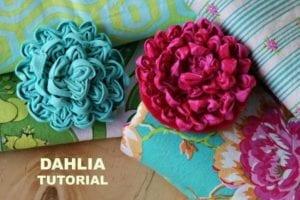 Fabric Dahlia Free sewing Tutorial