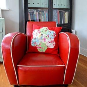 Applique Patchwork Hexagon Pillows