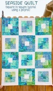 Seaside Squares Lap Quilt