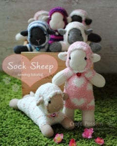 Sock Sheep FREE Sewing Pattern