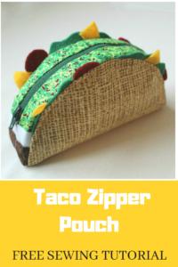 Taco Zipper Pouch FREE Pattern
