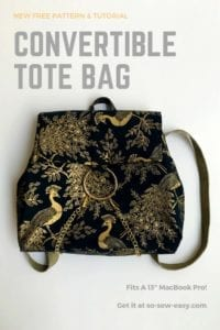 Convertible Tote Bag Free Pattern