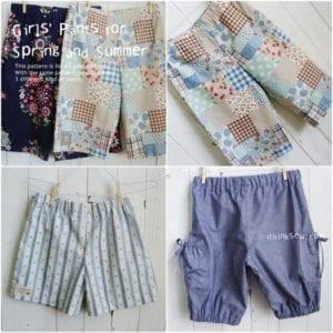 Girls Pants FREE Sewing Pattern