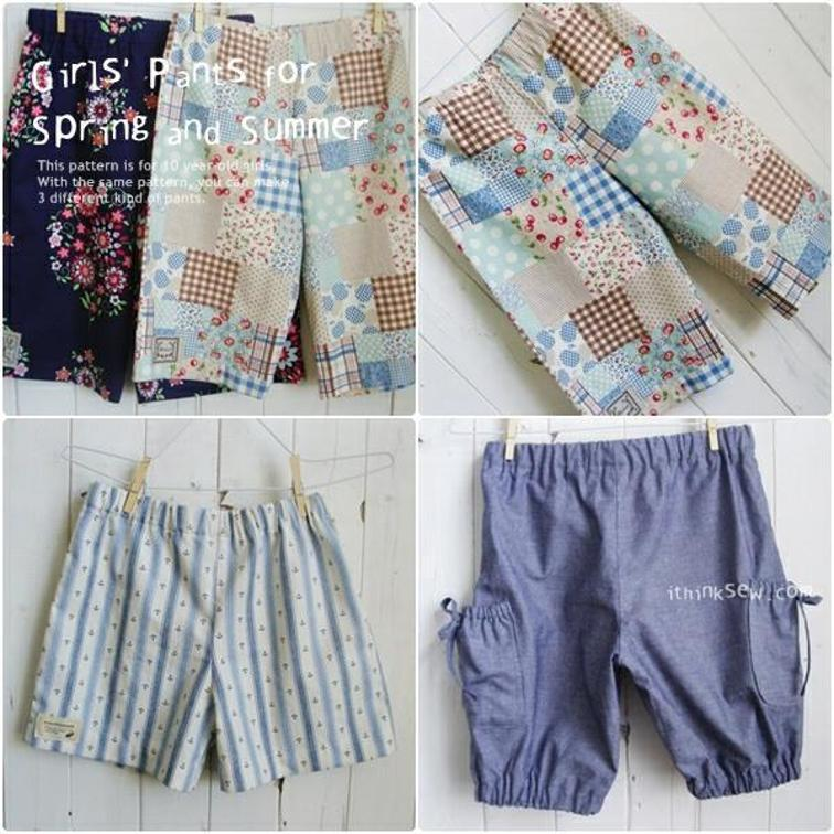 Girls Pants FREE Sewing Pattern