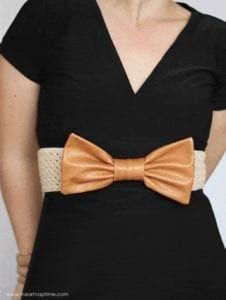 Leather Bow Belt FREE Sewing Tutorial