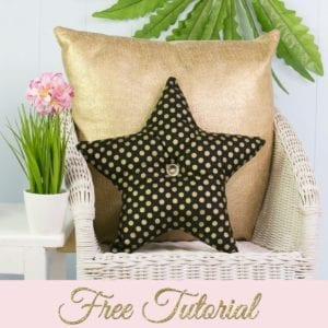 Star Pillow FREE Sewing Pattern