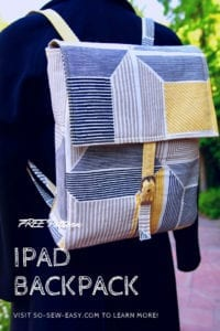 iPad Backpack FREE Pattern