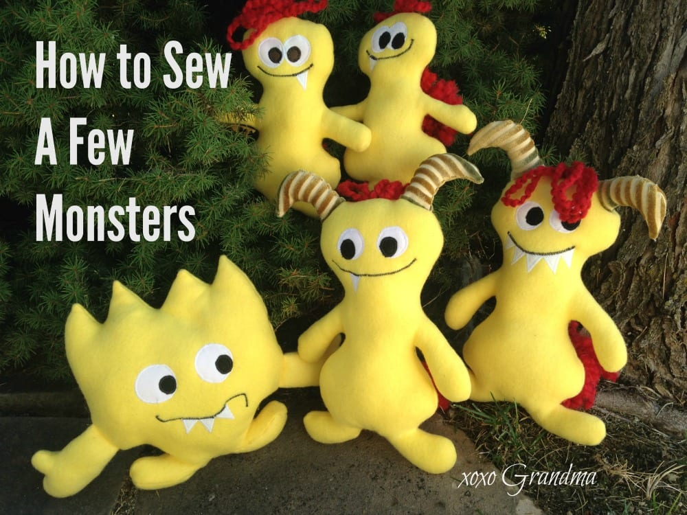 little monsters free sewing pattern