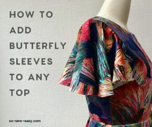 how to add butterfly sleeves