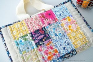 Quilted Book Bag FREE Sewing Tutorial