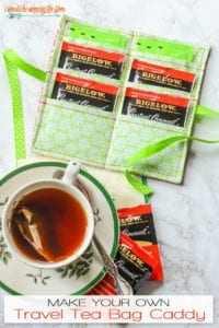 Tea Bag Caddy FREE Sewing Tutorial
