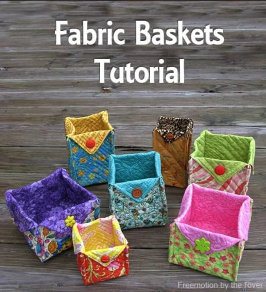 Fabric Baskets FREE Sewing Tutorial