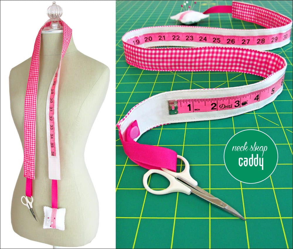 Measuring Tape Neck Caddy Free Sewing Tutorial