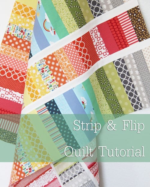 Strip and Flip Baby Quilt FREE Tutorial