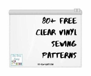 free clear vinyl sewing patterns