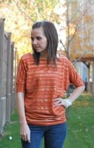 Dolman Sleeve Top FREE Sewing Tutorial