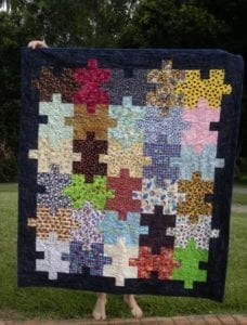 Jigsaw Puzzle Quilt FREE Tutorial