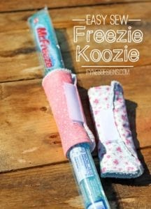 Freezie Koozies FREE Sewing Tutorial