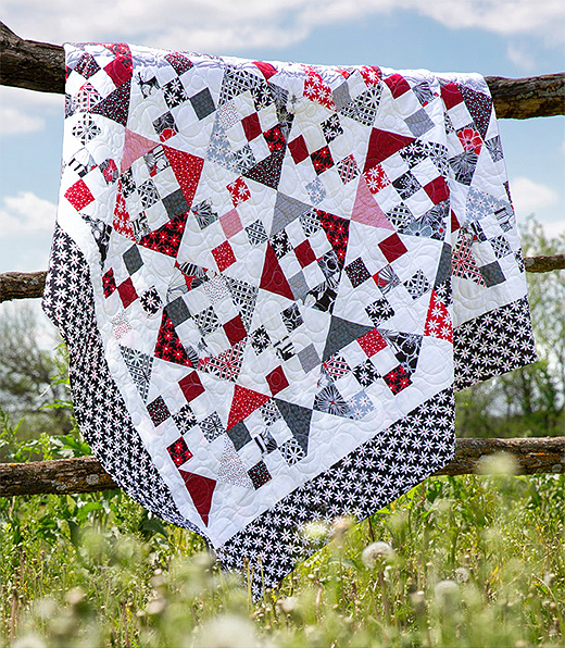 Nine Patch and Hourglass Quilt FREE Tutorial