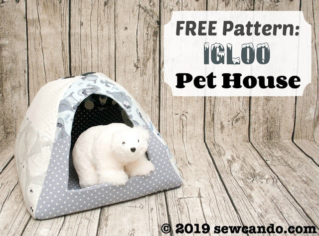 Pet House Igloo FREE Sewing Pattern