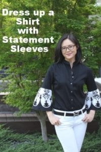 Upcycled Shirt with Statement Sleeves