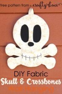 Free Pattern Fabric Skull
