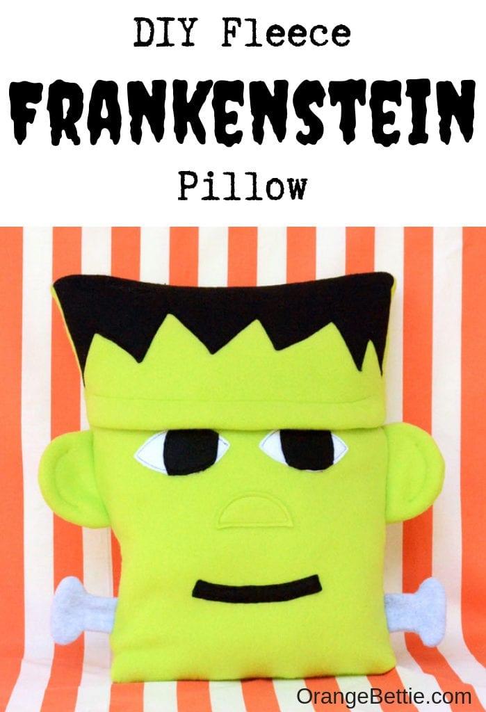 Frankenstein Halloween Pillow free sewing  pattern