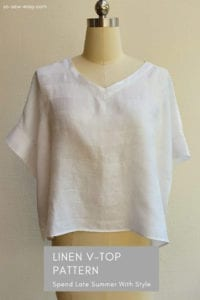 Linen V-Top FREE Sewing Pattern