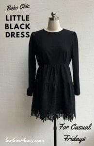 Little Black Dress FREE Sewing Pattern
