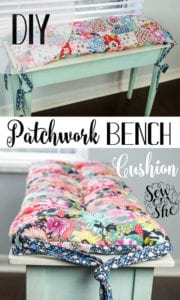 Patchwork Bench Cushion