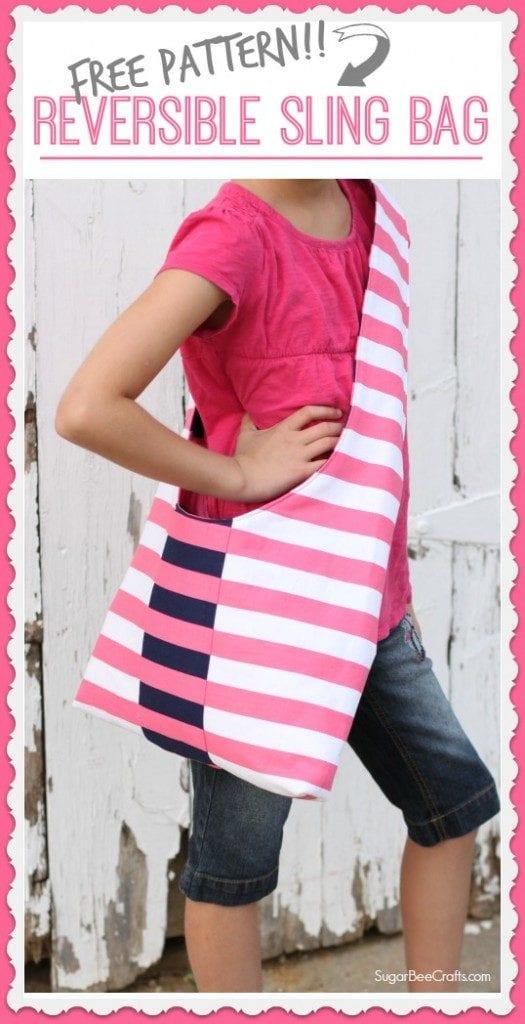 Reversible Sling Bag FREE Sewing Pattern